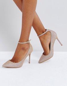 Read more about Kg by kurt geiger estha strap sparkle court shoes - metal comb