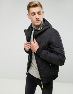 Read more about Esprit quilted jacket with hood - black 001