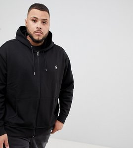 Read more about Polo ralph lauren big tall full zip sweat hoodie player logo in black - polo black