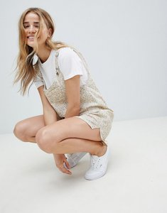 Read more about Asos design dungaree playsuit in floral print - ditsy