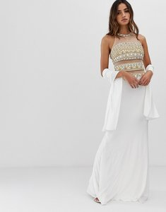 Read more about Jovani maxi dress with embellished detail