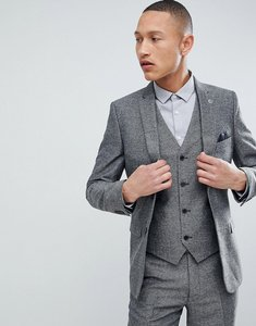 Read more about French connection slim fit grey herringbone suit jacket - grey