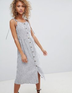 Read more about Miss selfridge button front midi dress - multi