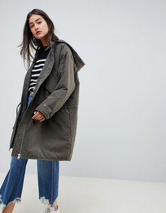 Read more about Asos design lightweight padded parka - khaki