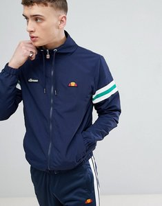Read more about Ellesse funnel neck jacket with sleeve stripe in navy - navy