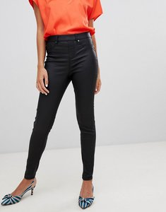 Read more about New look emilee coated jegging - black