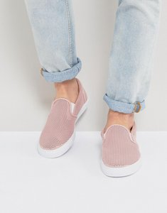 Read more about Asos slip on plimsolls in pink mesh - pink