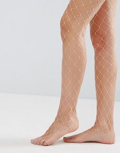 Read more about Asos oversized fishnet tights in pink - pink