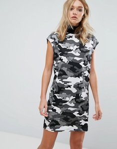 Read more about Cheap monday camo print high neck sleeveless dress - black