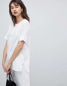 Read more about Selected femme blouse with sleeve turn up - white