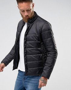 Read more about Barbour international slim fit cusp padded jacket with concealed hood in black - black
