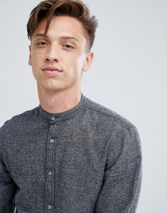 Read more about Tokyo laundry grandad collar salt and pepper shirt - grey
