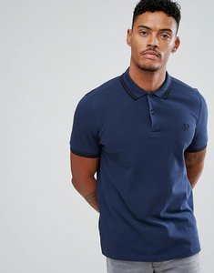 Read more about Fred perry slim fit tipped polo in service blue - deep night