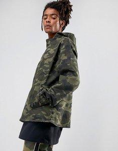 Read more about Cayler sons denim jacket in camo with half zip - camo