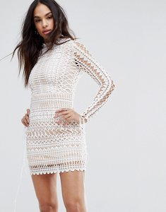 Read more about Missguided lace bodycon mini dress - white