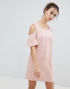 Read more about Glamorous cold shoulder dress - peach