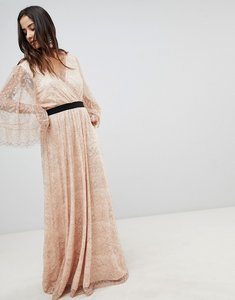 Read more about Y a s all over lace wrap maxi dress - rose