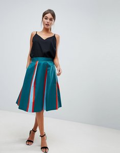 Read more about Closet stripe pleated skirt - multi