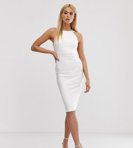 Read more about Vesper tall strappy back midi dress in white