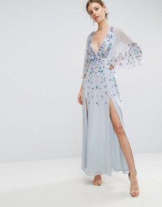 Read more about Asos embellished kimono maxi dress - ice blue