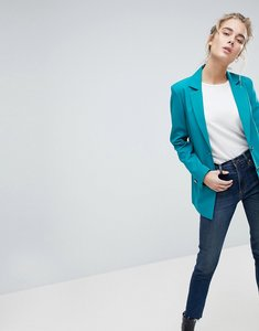 Read more about Asos tailored mansy blazer with gun metal buttons - green