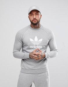 Read more about Adidas originals adicolor trefoil logo sweat in grey cy4573 - grey