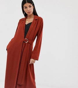 Read more about Asos design tall duster coat with faux shell trim