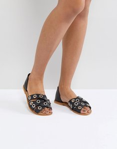 Read more about Asos justify leather summer shoes - black leather