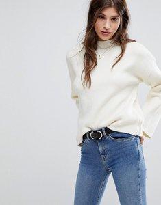 Read more about Vero moda high neck flared sleeve jumper - cream