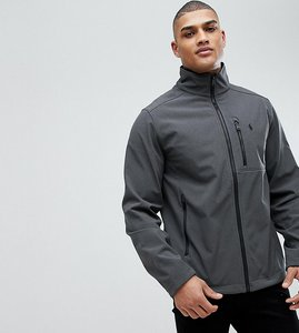 Read more about Polo ralph lauren tall softshell zip through sports jacket in grey - windsor heather