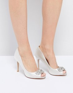Read more about Dune london bridal dolley embellised shoes - ivory