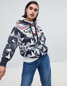 Read more about Adidas originals x farm multi print hooded windbreaker jacket - multi