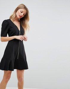 Read more about Asos zip through tea dress - black