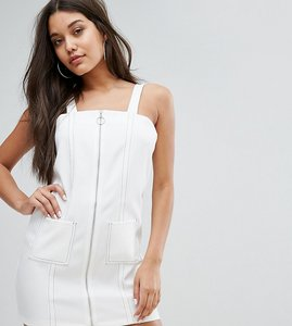 Read more about Missguided pocket detail ring pull dress - white