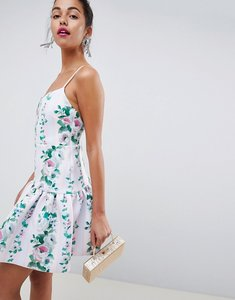 Read more about Asos design stripe floral drop waist mini skater dress - stripe floral