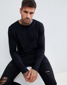 Read more about Hugo derol long sleeve embroidered logo t-shirt in black - black
