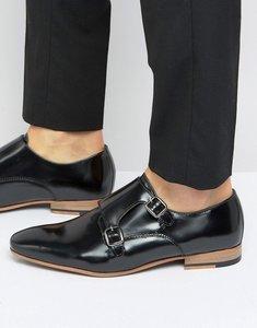 Read more about Kg by kurt geiger kinghorn monk shoes - black