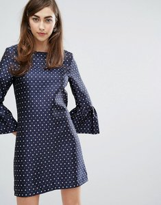Read more about Sister jane dress with exaggerated sleeves - navy