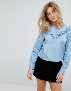 Read more about Only shirt with frill detail - blue