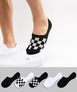 Read more about Asos design invisible liner socks with checkerboard design 5 pack - multi