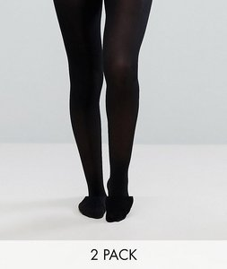 Read more about Asos 2 pack 40 denier tights - black