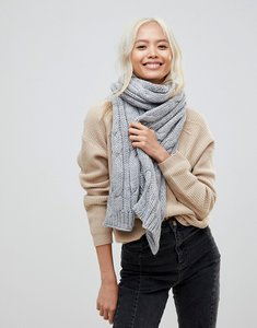 Read more about French connection chunky knitted scarf - grey