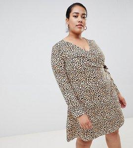 Read more about Junarose animal print wrap dress - multi