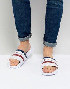 Read more about Ben sherman stripe slider flip flops - white