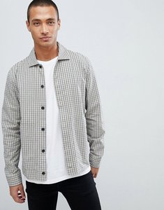 Read more about Lacoste l ve skinny fit check zip through jacket in beige - cream