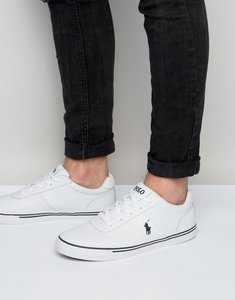 Read more about Polo ralph lauren hanford leather trainers - white