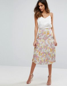 Read more about Warehouse floral jacquard skirt - multi
