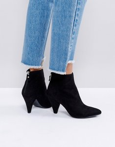 Read more about New look suedette cone heeled ankle boot - black
