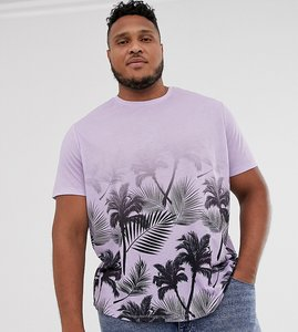 Read more about Jacamo t-shirt with plam tree fade print in pink