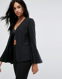 Read more about Vero moda flare sleeve tailored blazer - black